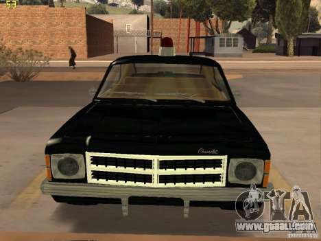Chevrolet Opala Police for GTA San Andreas back left view