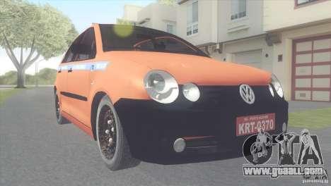 VW Polo Taxi de Porto Alegre for GTA San Andreas