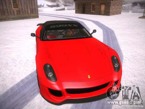 Ferrari 599XX for GTA San Andreas left view
