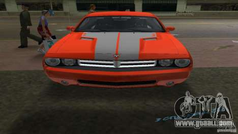 Dodge Challenger for GTA Vice City back left view
