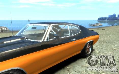 Chevrolet Chevelle SS 1970 for GTA 4 upper view