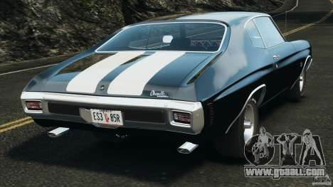 Chevrolet Chevelle SS 1970 v1.0 for GTA 4 back left view
