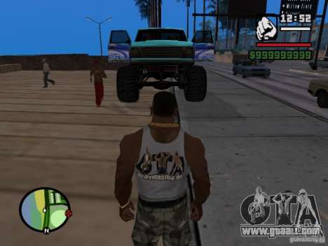 A Monster in the style of FC ZENIT for GTA San Andreas right view