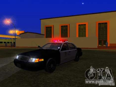 Ford Crown Victoria San Andreas State Patrol for GTA San Andreas bottom view