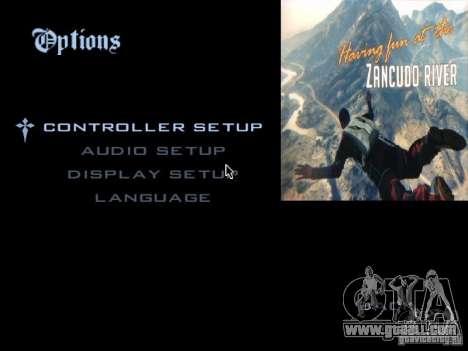 The main menu in the style of GTA 5 for GTA San Andreas second screenshot