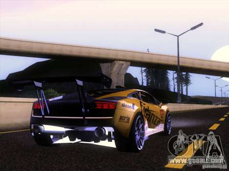 Lamborghini Gallardo Racing Street for GTA San Andreas back view
