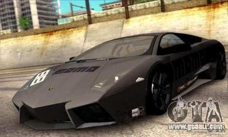Lamborghini Reventon for GTA San Andreas inner view
