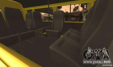 Gazelle 32213 Novosibirsk minibus for GTA San Andreas upper view