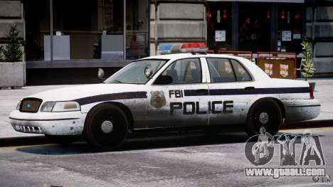 Ford Crown Victoria FBI Police 2003 for GTA 4 interior