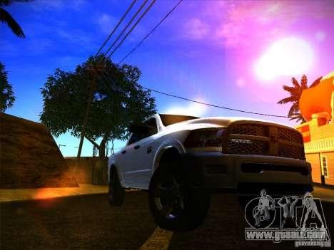 Dodge Ram Heavy Duty 2500 for GTA San Andreas back left view