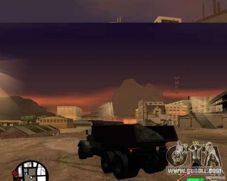 KrAZ-256 dump truck for GTA San Andreas back left view