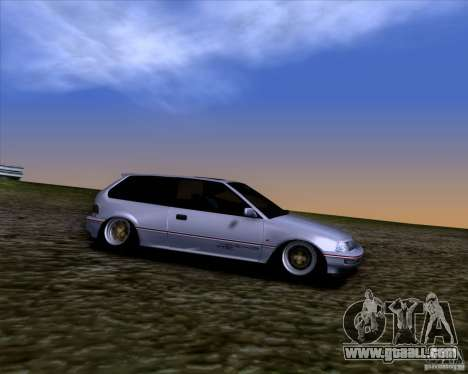 Honda Civic EF9 Hatch Stock for GTA San Andreas back view