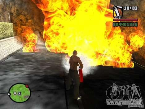 New fire extinguisher for GTA San Andreas second screenshot