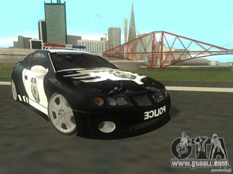 Pontiac GTO Police for GTA San Andreas