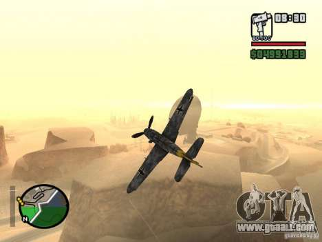 BF-109 G-16 for GTA San Andreas back view