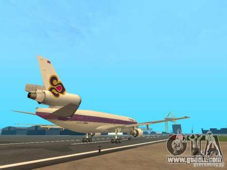 McDonell Douglas  DC 10 Thai Airways for GTA San Andreas right view