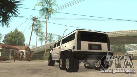 Hummer H6 for GTA San Andreas back left view
