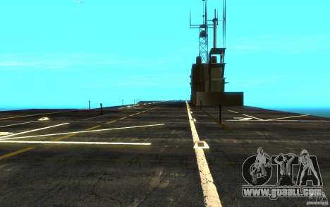 New Aircraft carrier for GTA San Andreas back view