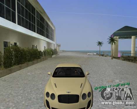 Bentley Continental SS for GTA Vice City back left view