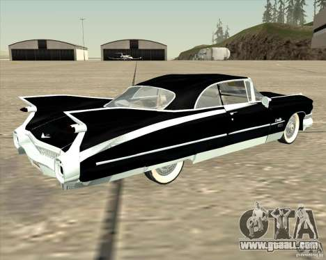 Cadillac Eldorado 1959 for GTA San Andreas back left view