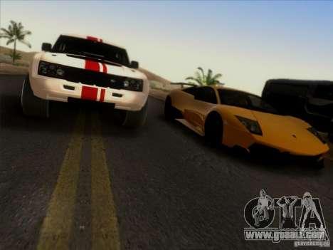 Bowler EXR S 2012 for GTA San Andreas inner view