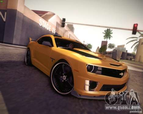Chevrolet Camaro 2SS 2012 Bumblebee for GTA San Andreas back view