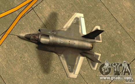 Lockheed F-35 Lightning II for GTA San Andreas back view