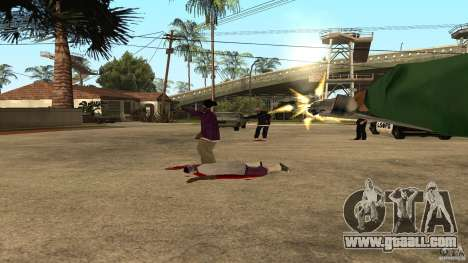 On Grove Street was attacked by Ballas for GTA San Andreas forth screenshot