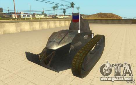 Renault FT17 for GTA San Andreas back left view