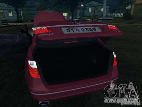 Hyundai Genesis for GTA San Andreas upper view