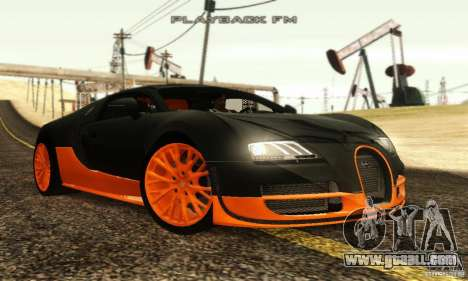 Bugatti Veyron SuperSport for GTA San Andreas back left view