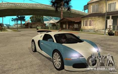 Bugatti Veyron Final for GTA San Andreas back view