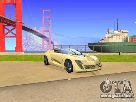 Bertone Mantide for GTA San Andreas left view