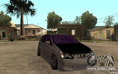Honda Civic Type-R for GTA San Andreas back view
