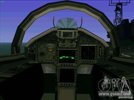 Eurofighter-2000 Typhoon for GTA San Andreas inner view