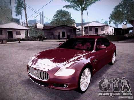 Maserati Quattroporte 2010 for GTA San Andreas left view