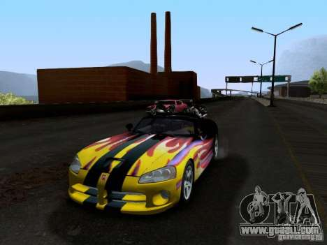 Dodge Viper SRT-10 Custom for GTA San Andreas upper view