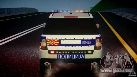 Range Rover Macedonian Police [ELS] for GTA 4 engine