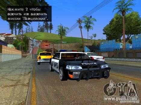 San-Fierro Sultan Copcar for GTA San Andreas