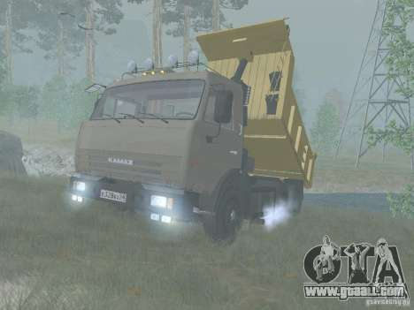 KAMAZ 65115 for GTA San Andreas back left view