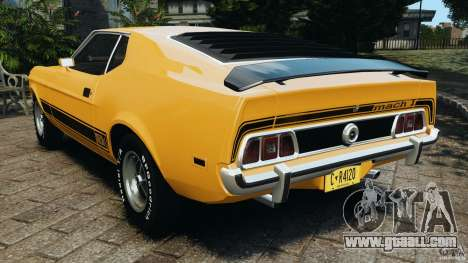 Ford Mustang Mach 1 1973 for GTA 4 back left view