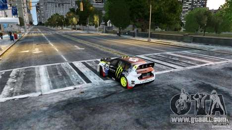 Subaru Impreza WRX STI Rallycross Monster Energy for GTA 4 back left view