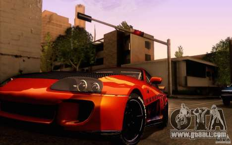 Toyota Supra for GTA San Andreas inner view