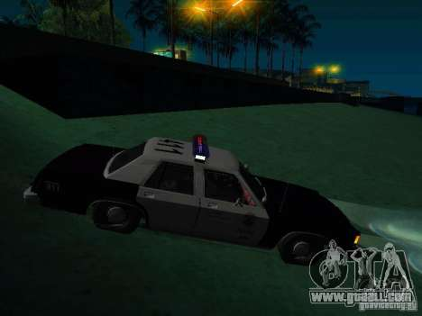 Ford Crown Victoria LTD 1992 SFPD for GTA San Andreas right view