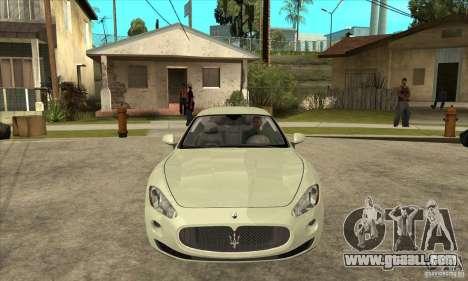 Maserati Gran Turismo 2008 for GTA San Andreas back view