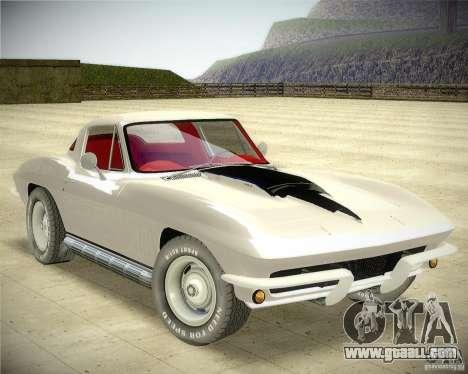 Chevrolet Corvette Stingray for GTA San Andreas right view