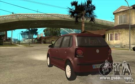Volkswagen Polo 2006 for GTA San Andreas back left view