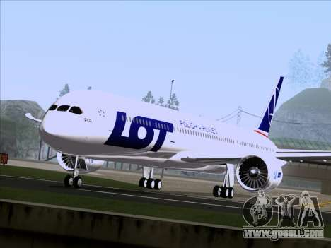 Boeing 787-9 LOT Polish Airlines for GTA San Andreas back left view