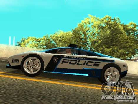 Lamborghini Murcielago LP640 Police V1.0 for GTA San Andreas right view