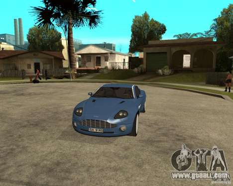 Aston Martin Vanquish for GTA San Andreas inner view